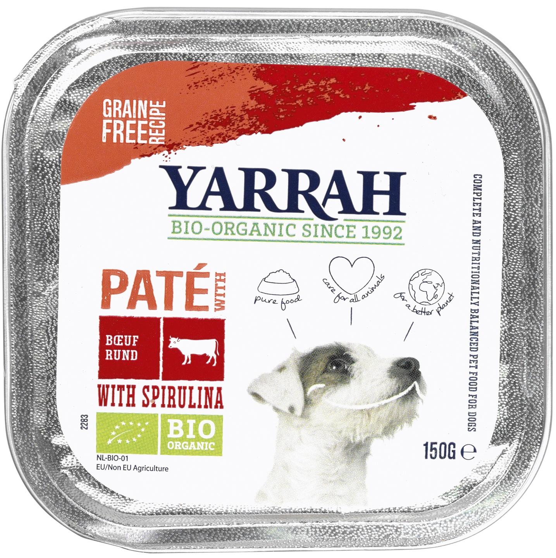 Biologische Yarrah Hond paté rund 150 gr