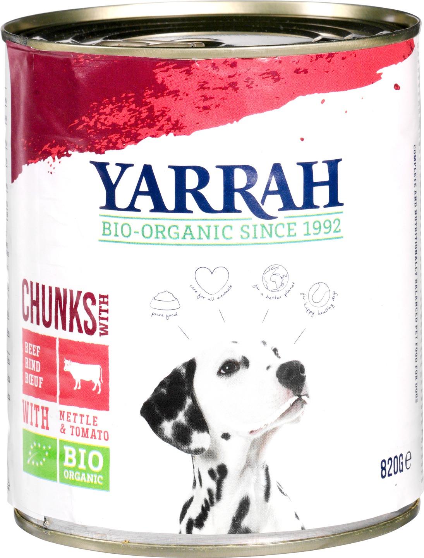 Biologische Yarrah Hond brokjes rund 820 gr