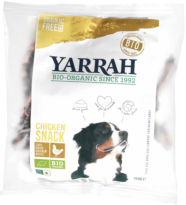 Biologische Yarrah Hondensnacks kip 150 gr