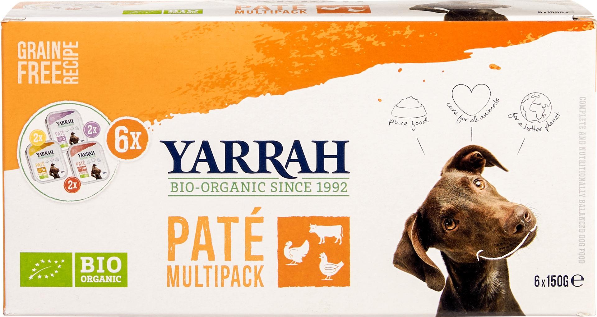 Biologische Yarrah Hond paté multipack 900 gr