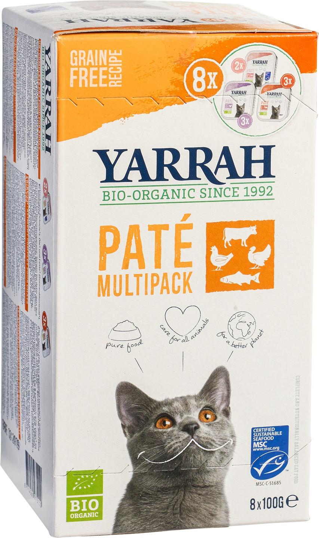 Biologische Yarrah Kattenpaté multipack 901 gr