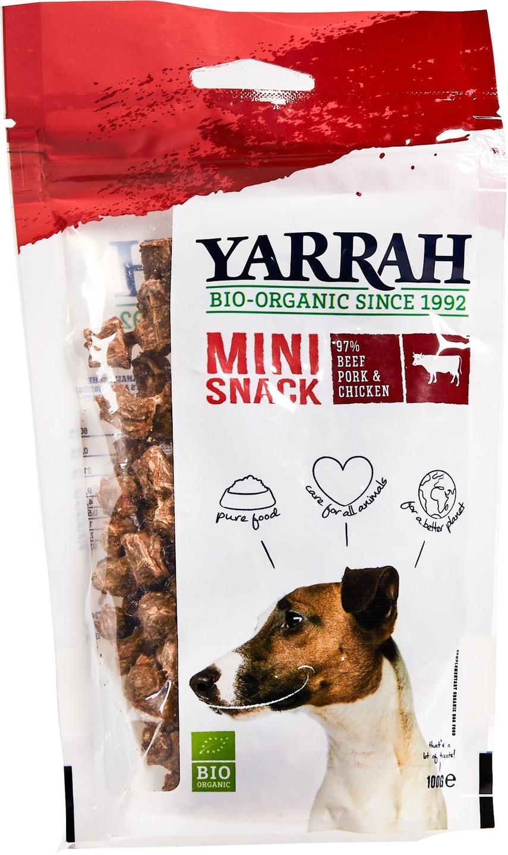 Biologische Yarrah Hond mini bites rund 100 gr