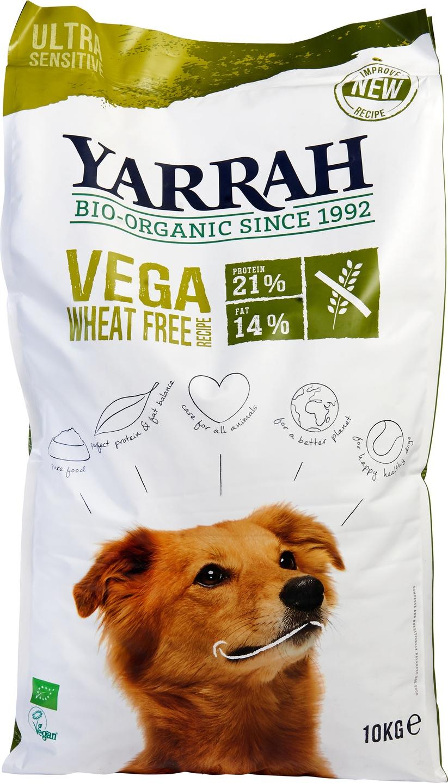 Biologische Yarrah Hond brokjes vega tarwevrij 10 kg