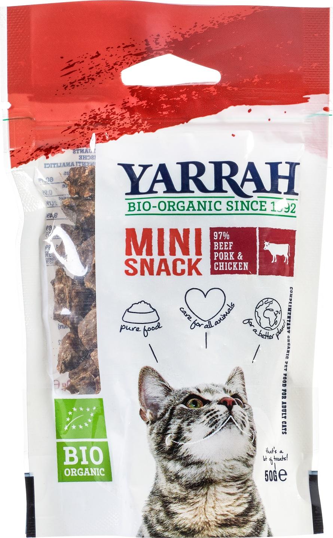 Biologische Yarrah Kattensnacks mini 50 gr