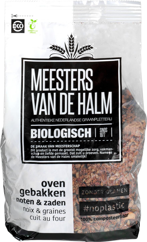 Biologische Meesters van de Halm Ovengebakken noten en zaden ontbijtgranen 500 g