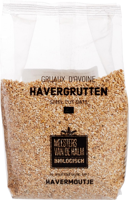 Biologische Havermoutje+De Halm Havergrutten 500 gr