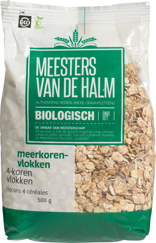 Biologische Meesters van de Halm 4-Korenvlokken 500 gr