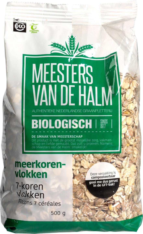 Biologische Meesters van de Halm 7-Korenvlokken 500 gr