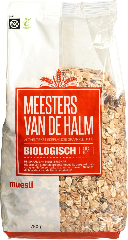 Biologische Meesters van de Halm Muesli standaard 750 gr