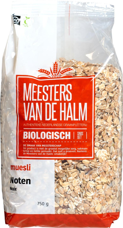 Biologische Meesters van de Halm Muesli noten 750 gr