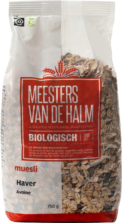 Biologische Meesters van de Halm Havermuesli 750 gr
