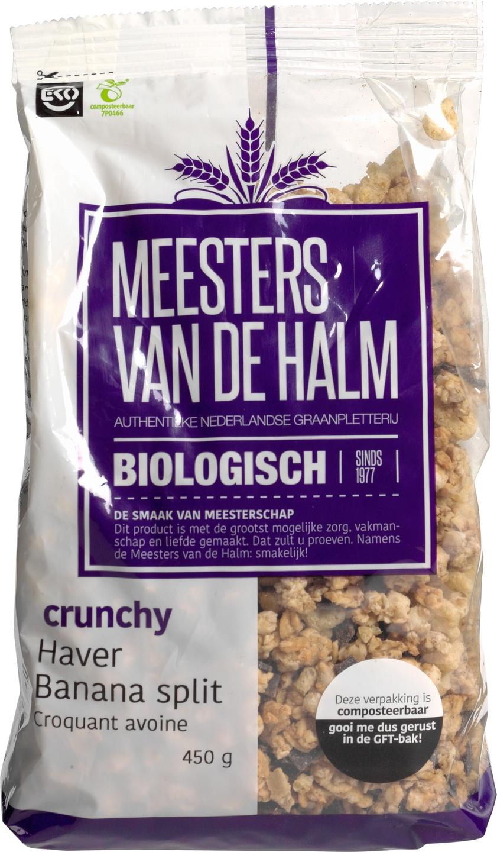 Biologische Meesters van de Halm Havercrunchy bananasplit 450 gr