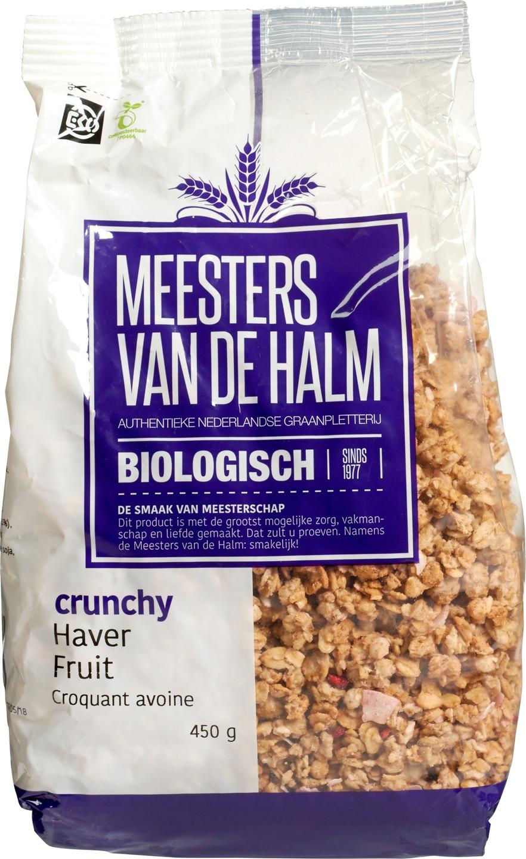 Biologische Meesters van de Halm Havercrunchy fruit 450 gr