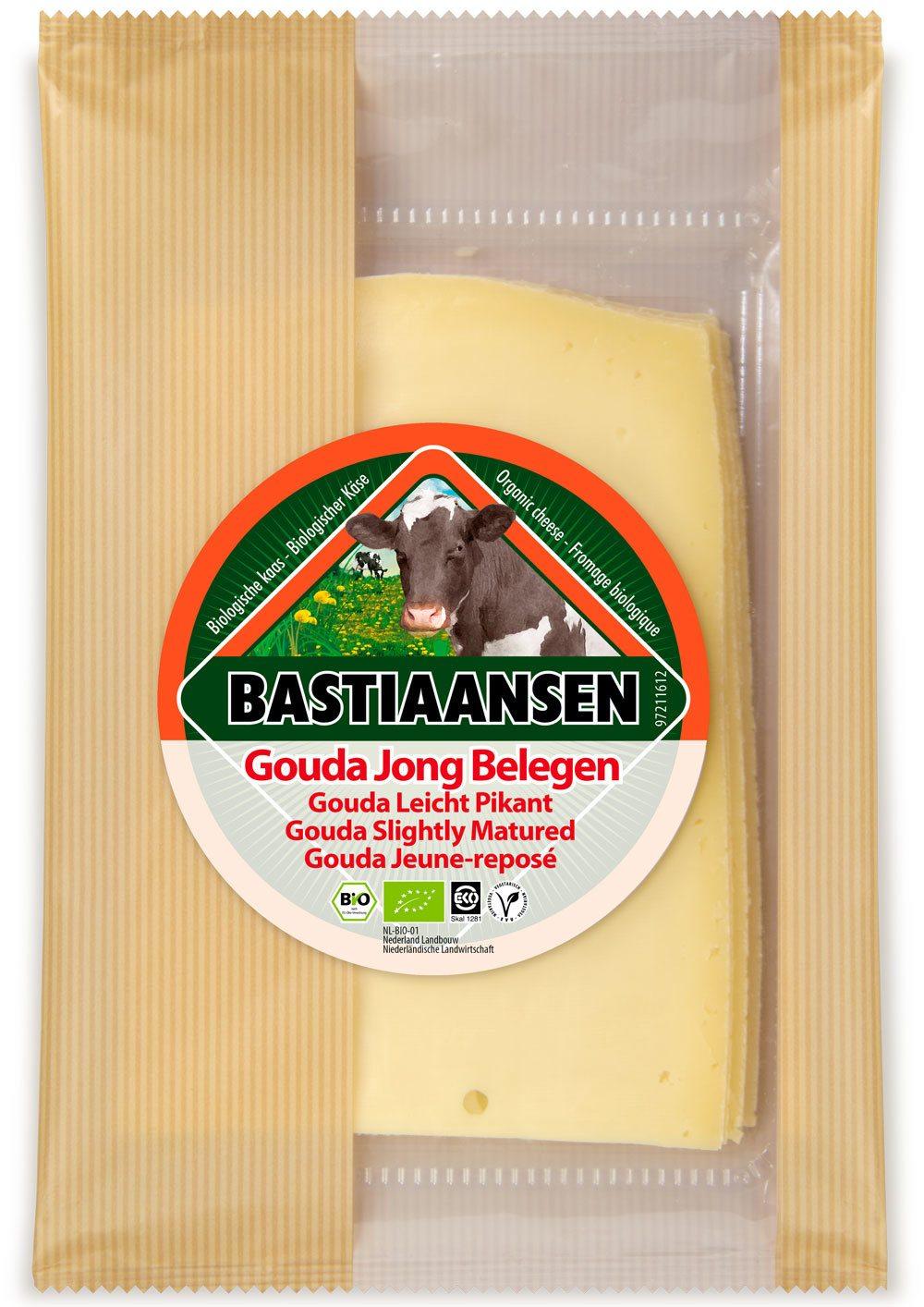 -26% SALE | Biologische Bastiaansen Plakjes jong belegen kaas 150 gr