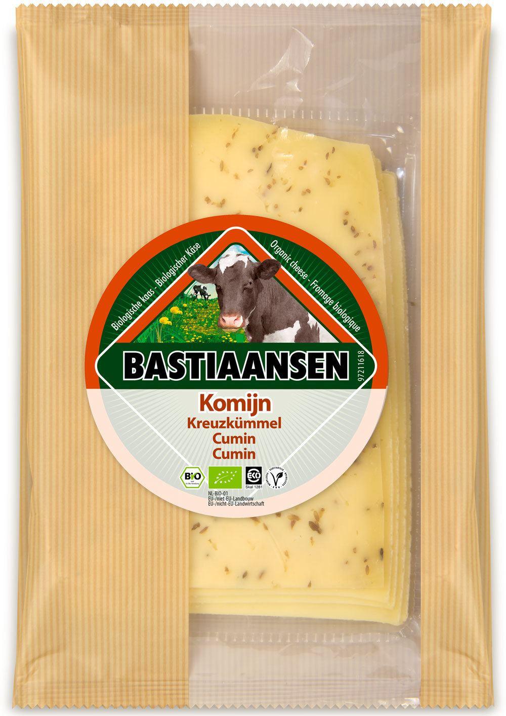 -26% SALE | Biologische Bastiaansen Plakjes kaas komijn 150 gr