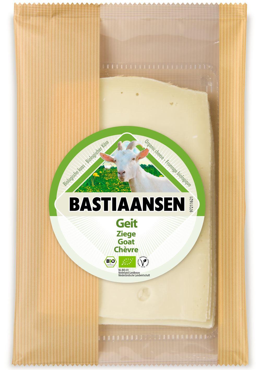 -25% SALE | Biologische Bastiaansen Plakjes jonge geitenkaas 150 gr