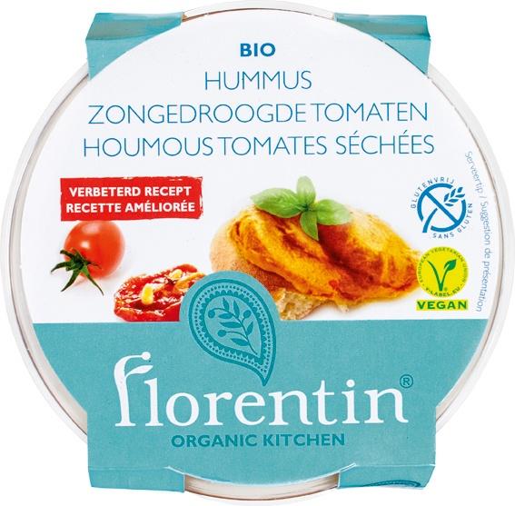 Biologische Florentin Hummus zongedroogde tomaatjes 170 gr