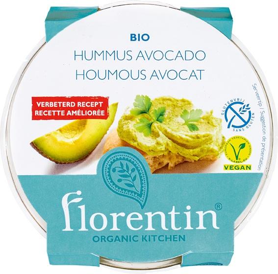 Biologische Florentin Hummus avocado 170 gr