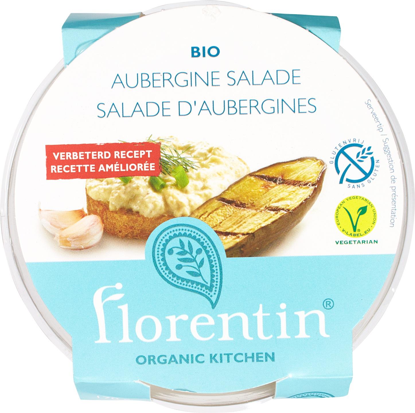 Biologische Florentin Salade aubergine 170 gr
