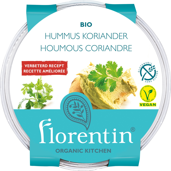 Biologische Florentin Hummus koriander 170 gr