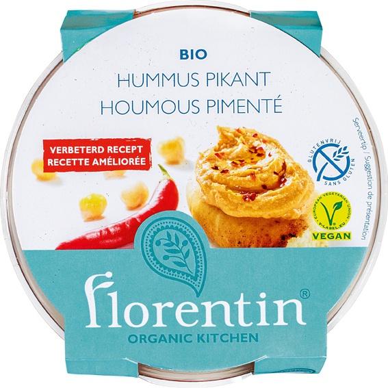 Biologische Florentin Hummus pikant 170 gr