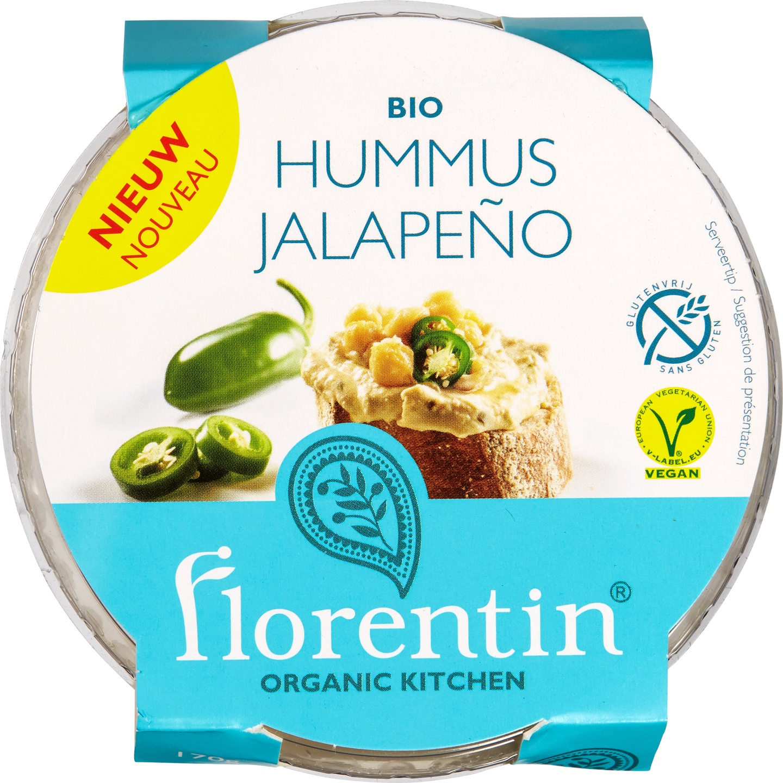 Biologische Florentin Hummus Jalapeño 170 gr