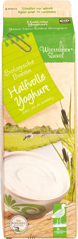 Biologische Weerribben Zuivel Halfvolle yoghurt 1 L