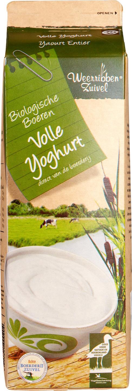 Biologische Weerribben Zuivel Volle yoghurt 1 L