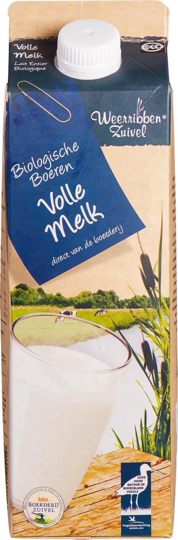 Biologische Weerribben Zuivel Volle melk 1 L