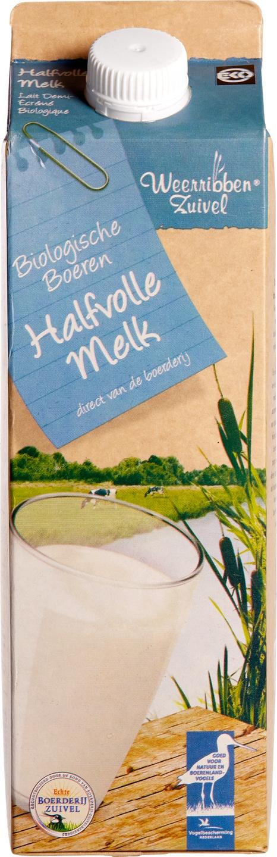 Biologische Weerribben Zuivel Halfvolle melk 1 L
