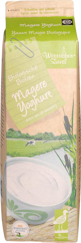 Biologische Weerribben Zuivel Magere yoghurt 1 L