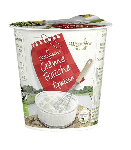 Biologische Weerribben Zuivel Boeren crème fraîche 125 ml