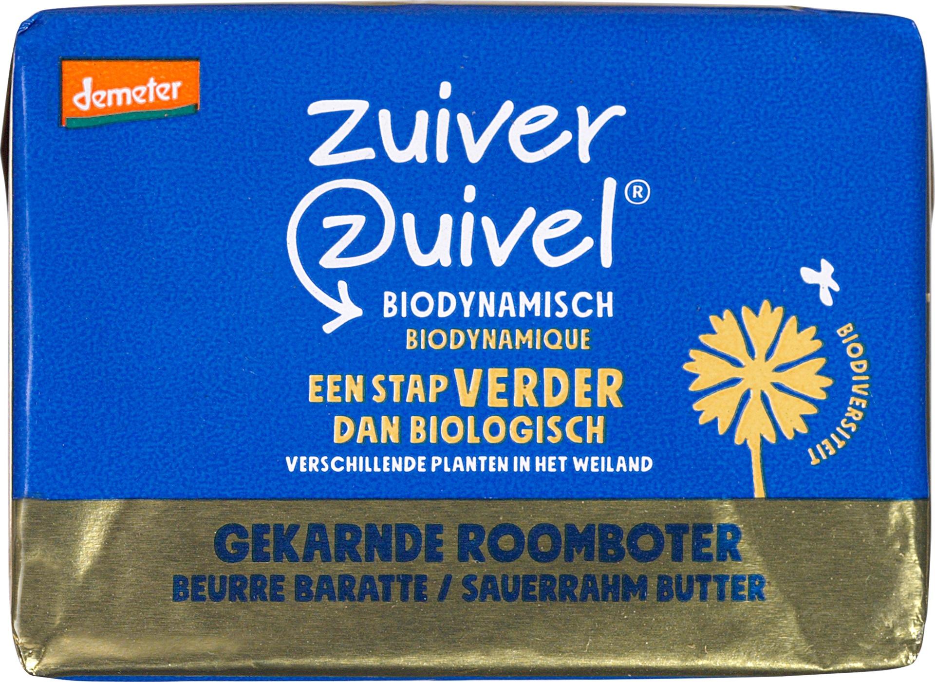 Biologische Zuiver Zuivel Roomboter ongezouten 250 gr