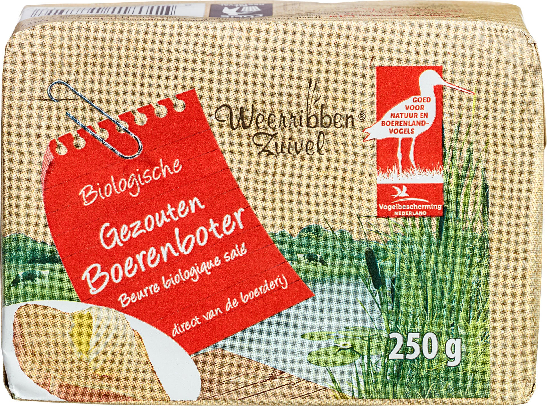 Biologische Weerribben Zuivel Boeren gezouten boter 250 gr