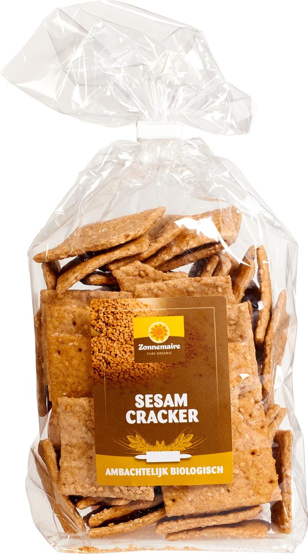 Biologische Zonnemaire Crackers volkoren sesam 300 gr