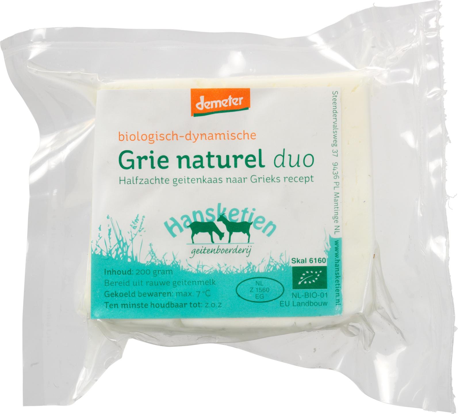 Biologische Hansketien Grie naturel Duo 200 gr