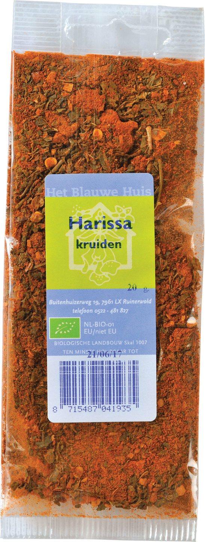 Biologische Het Blauwe Huis Harissa kruiden 20 g