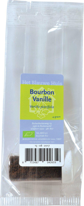 Biologische Het Blauwe Huis Bourbon vanille 4 gr