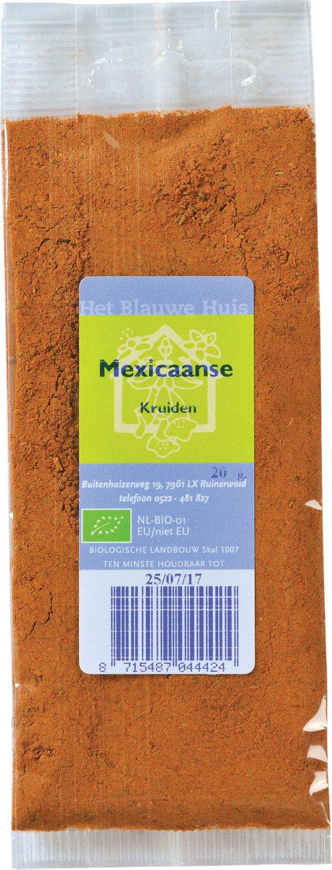 Biologische Het Blauwe Huis Mexicaanse kruiden 20 gr