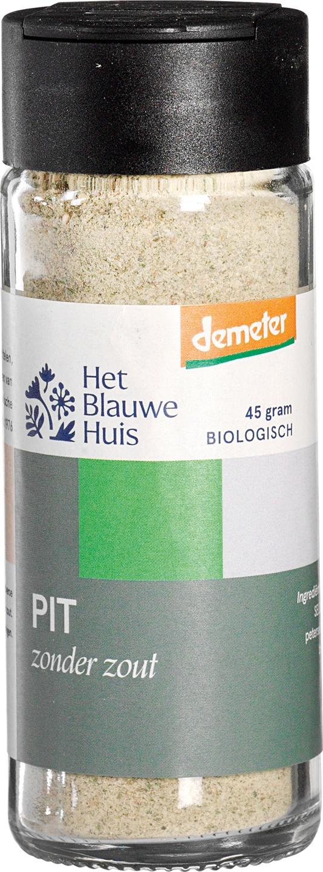 Biologische Het Blauwe Huis Pit (zonder zout) 45 gr