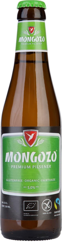Biologische Mongozo Pilsener glutenvrij 330 ml