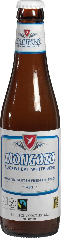 Biologische Mongozo Wit bier boekweit 330 ml