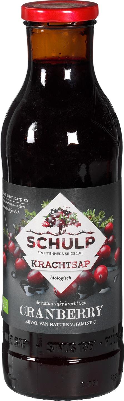 Biologische Schulp Krachtsap cranberry 750 ml