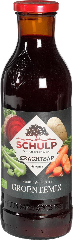 Biologische Schulp Krachtsap groentemix 750 ml