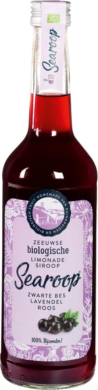 Biologische Searoop Siroop zwarte bes, lavendel en roos 500 ml