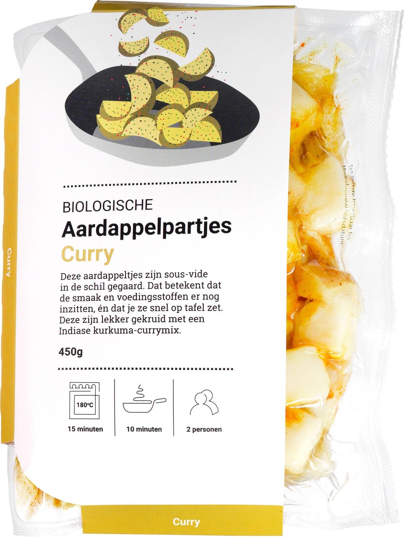 Biologische Ekoplaza Curry aardappelpartjes 450 g