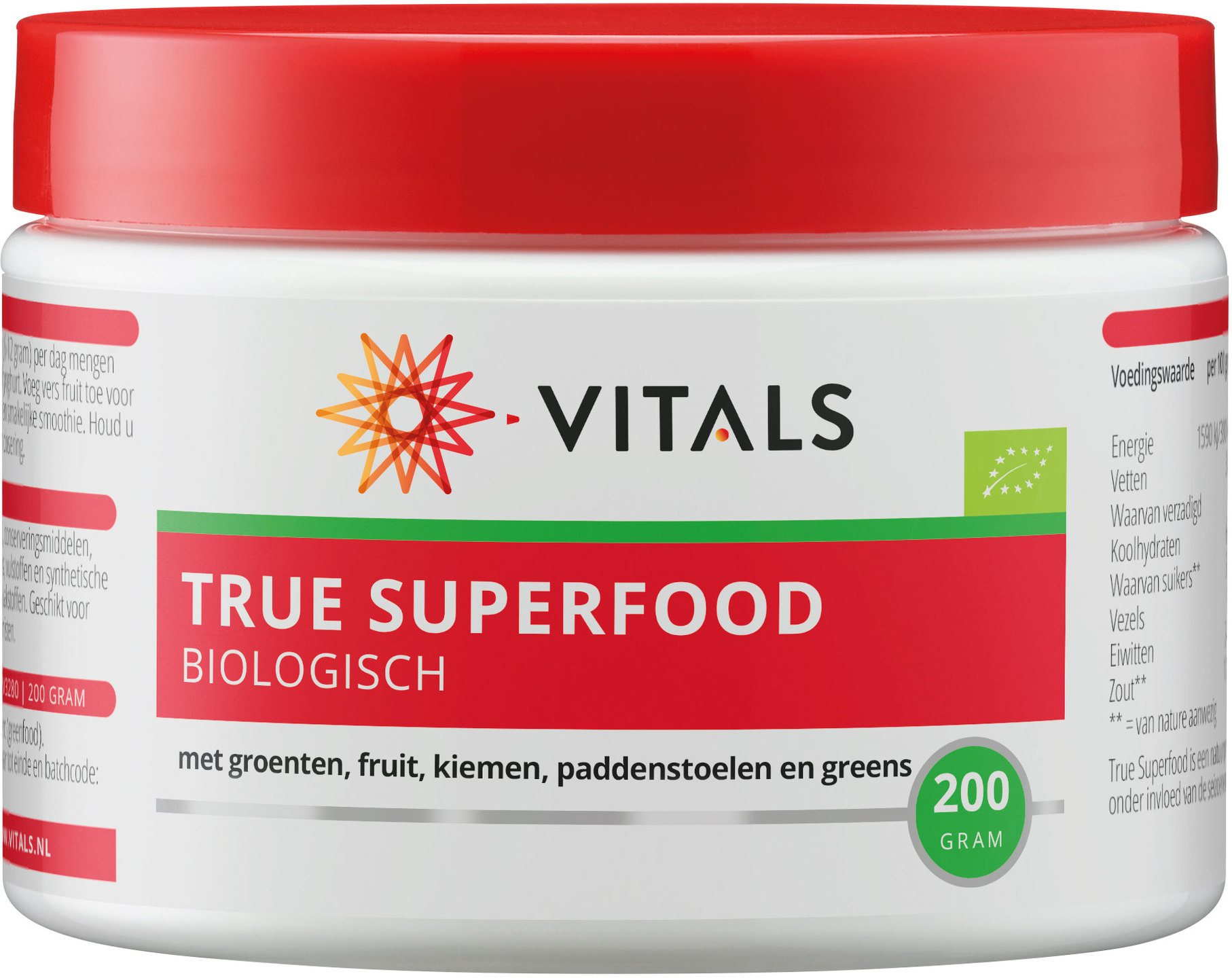 Biologische Vitals True superfood 200 gr