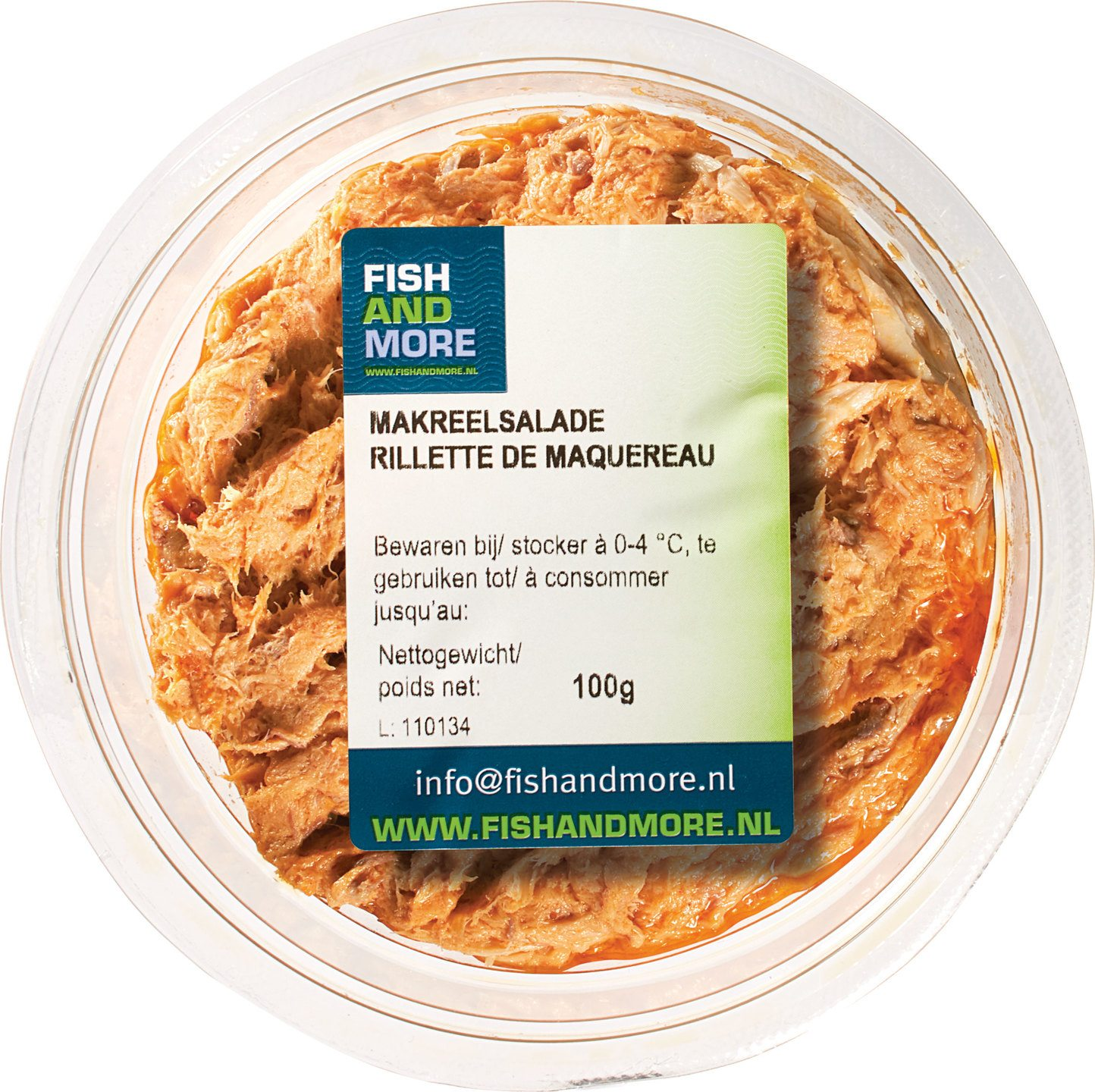 Biologische Fish and More Makreelsalade 100 gr