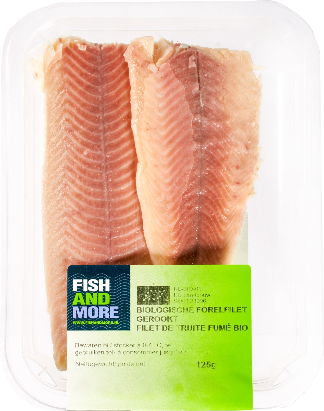 Biologische Fish and More Forelfilet 125 g