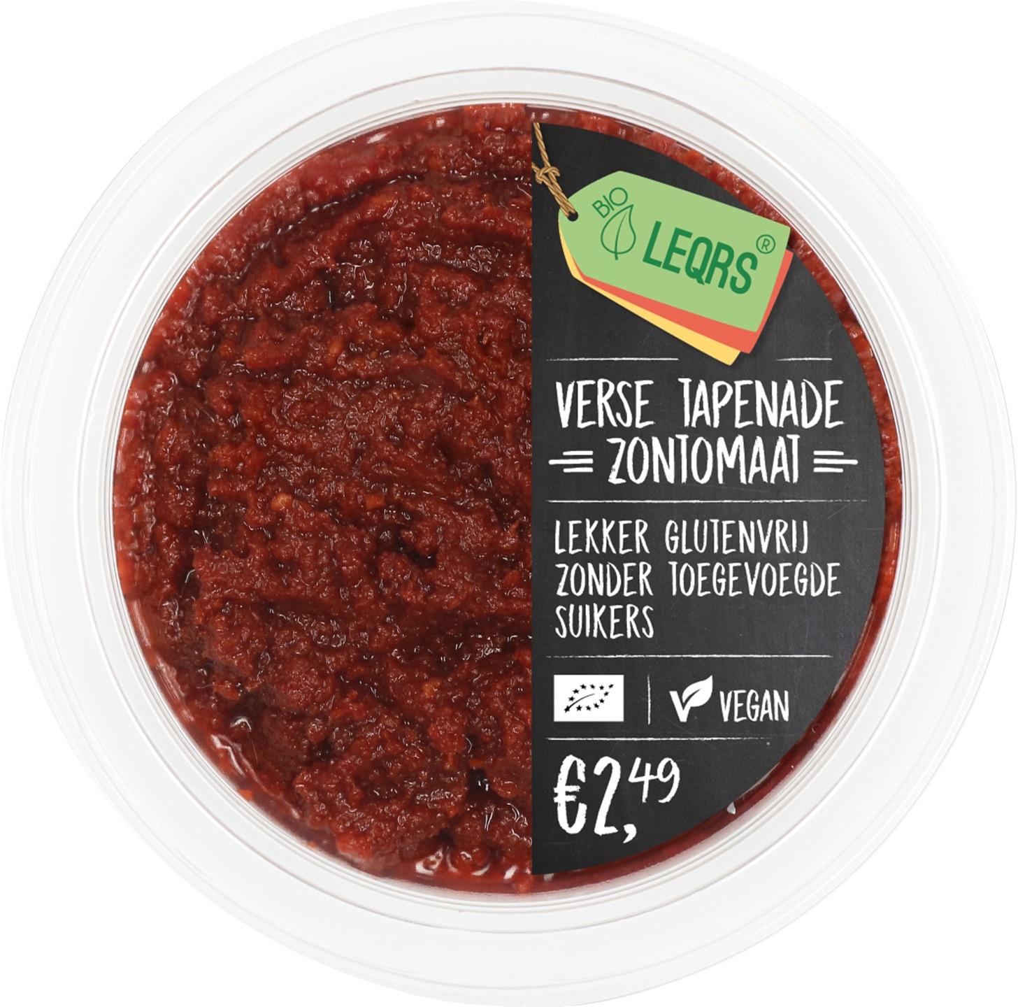 -20% SALE | Biologische LeQrs Verse tapenade zontomaat 100 gr